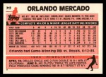 1983 Topps Traded #71 T Orlando Mercado  Back Thumbnail