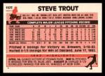 1983 Topps Traded #117 T Steve Trout  Back Thumbnail