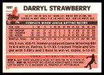 1983 Topps Traded #108 T Darryl Strawberry  Back Thumbnail