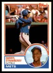 1983 Topps Traded #108 T Darryl Strawberry  Front Thumbnail
