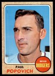 1968 Topps #266  Paul Popovich  Front Thumbnail