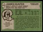 1978 Topps #389  James Hunter  Back Thumbnail