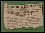 1976 Topps Traded #411 T Bill Singer  Back Thumbnail
