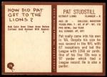 1967 Philadelphia #70  Pat Studstill  Back Thumbnail