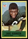 1967 Philadelphia #80  Dave Robinson  Front Thumbnail