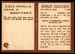 1967 Philadelphia #92  Marlin McKeever  Back Thumbnail