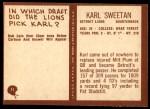 1967 Philadelphia #71  Karl Sweetan  Back Thumbnail