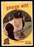 1959 Topps #110  George Witt  Front Thumbnail