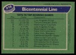 1976 Topps #218   -  Lowell MacDonald / Syl Apps / Jean Pronovost Top Scoring Line Back Thumbnail