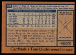1978 Topps #531  Tom Underwood  Back Thumbnail