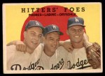 1959 Topps #262   -  Don Drysdale / Clem Labine / Johnny Podres Hitters' Foes Front Thumbnail