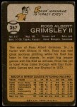 1973 Topps #357  Ross Grimsley  Back Thumbnail