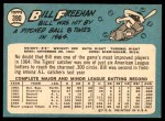 1965 Topps #390  Bill Freehan  Back Thumbnail