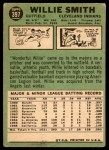 1967 Topps #397  Willie Smith  Back Thumbnail