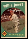 1959 Topps #208  Willie Jones  Front Thumbnail