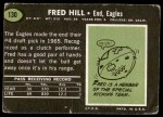 1969 Topps #130  Fred Hill  Back Thumbnail