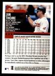 2000 Topps #360  Jim Thome  Back Thumbnail