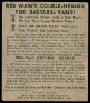 1952 Red Man #9 NL Monte Irvin  Back Thumbnail