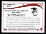 2014 Topps Update #154   -  Yu Darvish  All-Star Back Thumbnail