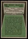 1975 Topps #523  Bobby Maples  Back Thumbnail