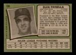 1971 Topps #104  Danny Frisella  Back Thumbnail