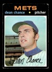 1971 Topps #36  Dean Chance  Front Thumbnail