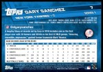 2017 Topps #7 A Gary Sanchez  Back Thumbnail