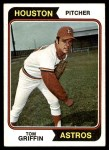 1974 Topps #256  Tom Griffin  Front Thumbnail