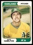 1974 Topps #633  Dave Hamilton  Front Thumbnail