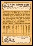 1968 Topps #386  Greg Goossen  Back Thumbnail