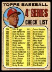 1968 Topps #278 LFT  -  Orlando Cepeda Checklist 4 Front Thumbnail