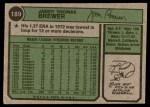 1974 Topps #189  Jim Brewer  Back Thumbnail