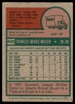 1975 Topps #606  Bruce Miller  Back Thumbnail