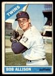 1966 Topps #345  Bob Allison  Front Thumbnail
