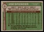 1976 Topps #83  Jim Spencer  Back Thumbnail