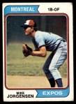 1974 Topps #549  Mike Jorgensen  Front Thumbnail