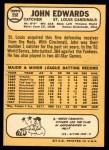 1968 Topps #558  Johnny Edwards  Back Thumbnail