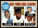 1968 Topps #5   -  Hank Aaron / Willie McCovey / Ron Santo / Jim Wynn NL HR Leaders Front Thumbnail