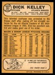 1968 Topps #203  Dick Kelley  Back Thumbnail
