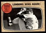 1968 Topps #155   -  Jim Lonborg 1967 World Series - Game #5 - Lonborg Wins Again! Front Thumbnail