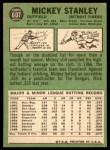 1967 Topps #607  Mickey Stanley  Back Thumbnail