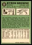 1967 Topps #439  Byron Browne  Back Thumbnail