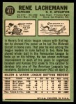 1967 Topps #471  Rene Lachemann  Back Thumbnail
