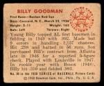1950 Bowman #99  Billy Goodman  Back Thumbnail
