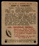 1948 Bowman #54  John Sanchez  Back Thumbnail