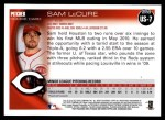 2010 Topps Update #7  Sam LeCure   Back Thumbnail