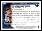 2010 Topps Update #58  Brian Wilson  Back Thumbnail