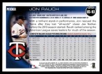 2010 Topps Update #93  Jon Rauch  Back Thumbnail