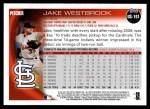 2010 Topps Update #101  Jake Westbrook  Back Thumbnail
