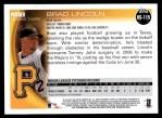 2010 Topps Update #115  Brad Lincoln  Back Thumbnail